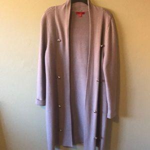 Jennifer Lopez long sweater coat